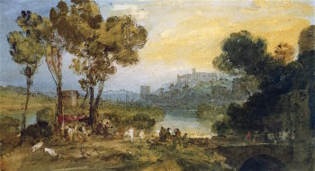 Study for Dido and Aeneas | Joseph Mallord William Turner | oil painting