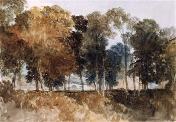 Unidentified Bridge Seen through Trees | Joseph Mallord William Turner | oil painting