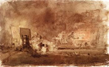 The Artists Studio   Joseph Mallord William Turner   oil painting