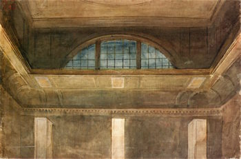 Upper Part of the North Wall of the Great Room at Somerset House | Joseph Mallord William Turner | oil painting