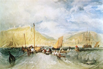 Hastings from the Sea | Joseph Mallord William Turner | oil painting