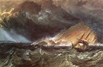 The Mew Stone at the Entrance of Plymouth Sound | Joseph Mallord William Turner | oil painting