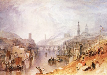 Newcastle - on - Tyne | Joseph Mallord William Turner | oil painting