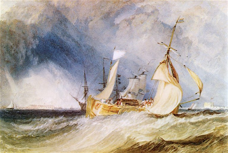Mouth of the River Humber   Joseph Mallord William Turner   oil painting