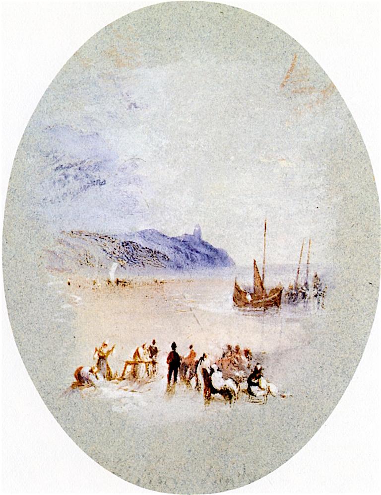 Lowestoffe Lighthouse | Joseph Mallord William Turner | oil painting