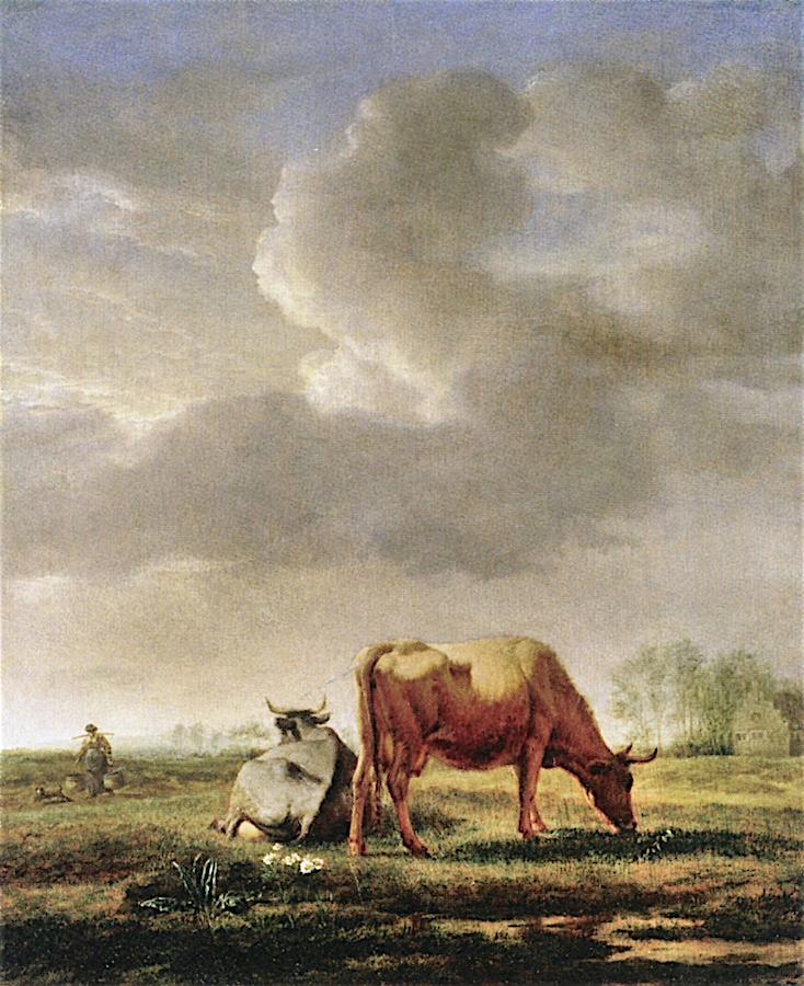Meadow with Cattle | Adriaen van de Velde | oil painting