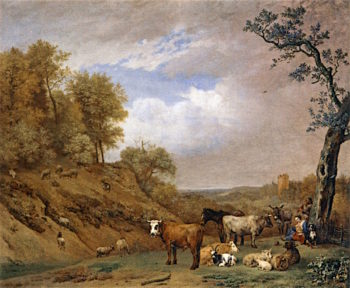Herders with Cattle | Paulus Potter | oil painting