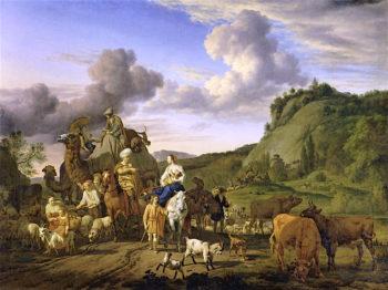 The Migration of Jacob | Adriaen van de Velde | oil painting