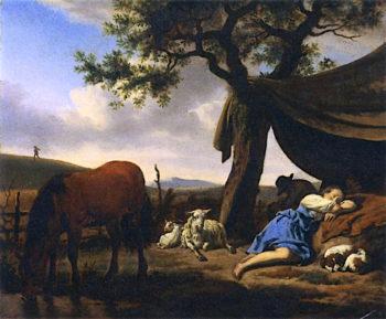Sleeping Shepherds | Adriaen van de Velde | oil painting
