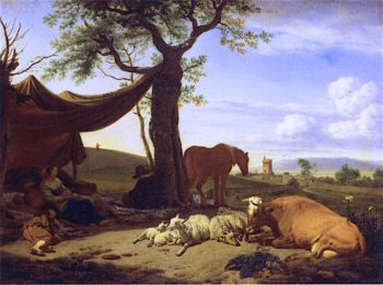 Noonday Rest | Adriaen van de Velde | oil painting
