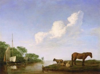 View of an Estuary | Adriaen van de Velde | oil painting