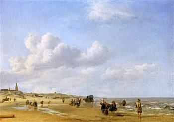 The Beach at Scheveningen | Adriaen van de Velde | oil painting