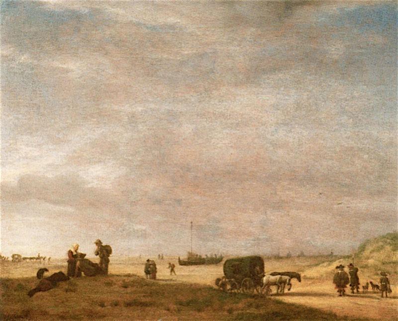 View of a Beach | Adriaen van de Velde | oil painting