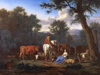 Landscape with Cattle and Figures | Adriaen van de Velde | oil painting