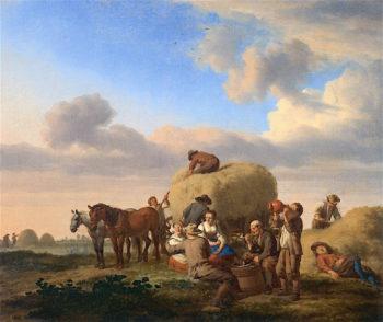 Haymakers Resting in a Field | Adriaen van de Velde | oil painting