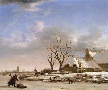 Winter Landscape | Adriaen van de Velde | oil painting