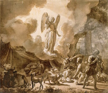 The Angel Appearing to the Shepherds | Adriaen van de Velde | oil painting