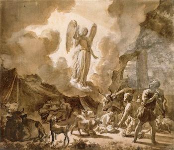 The Angel Appearing to the Shepherds | Adriaen van de Velde | oil painting
