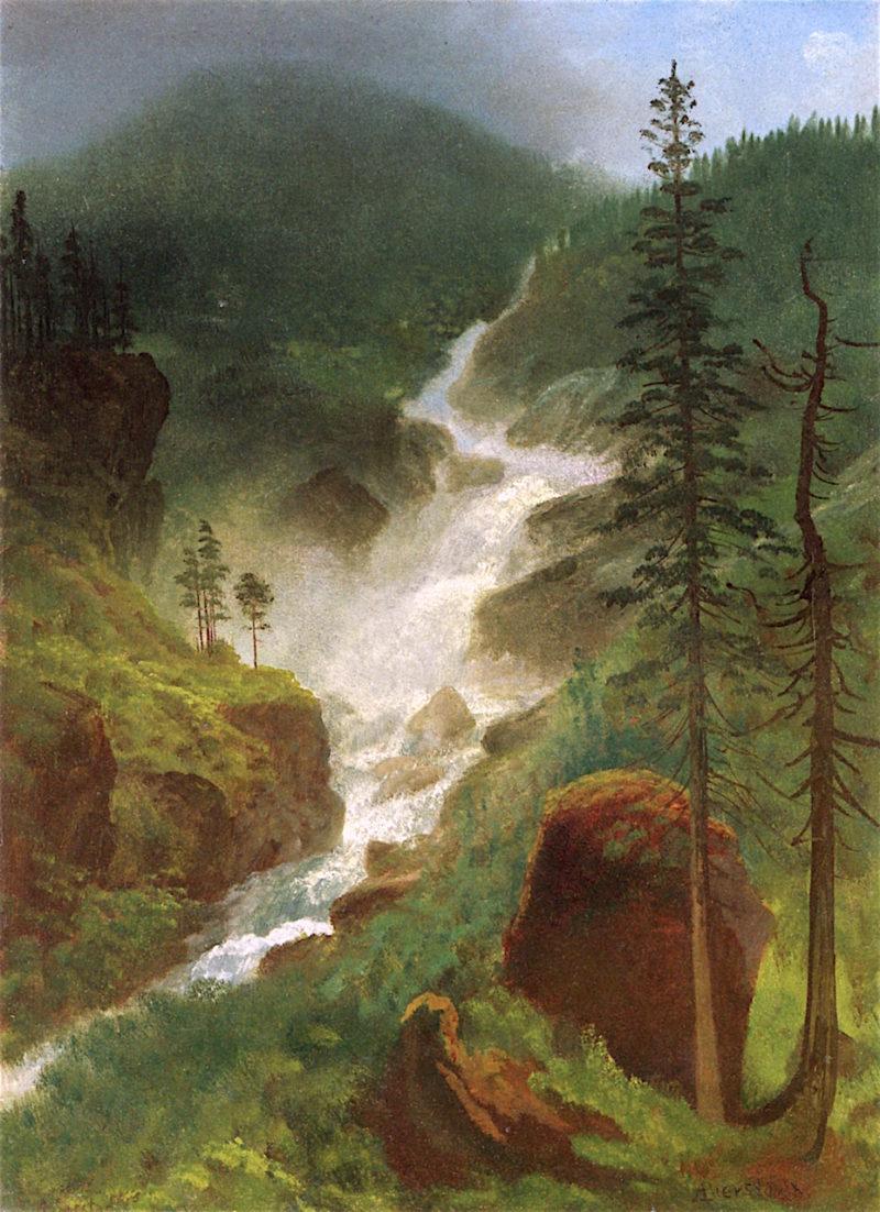 Colorado Waterfalls | Albert Bierstadt | oil painting