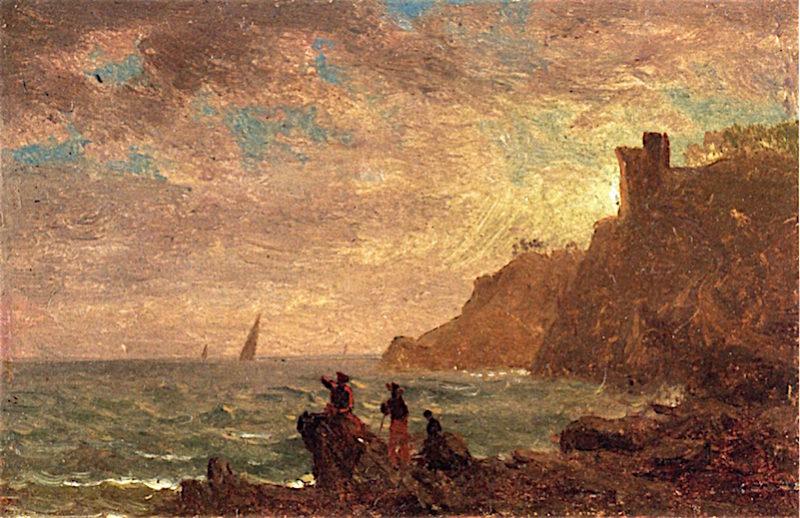 Figures along the Coast of Italy | Albert Bierstadt | oil painting