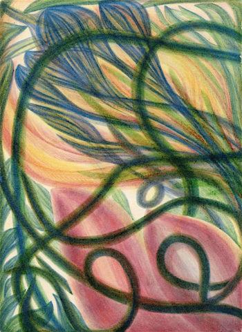 Flower and Fruit of Henry Lenny | Georgiana Houghton | oil painting