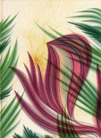 Flower of William Harman Butler | Georgiana Houghton | oil painting