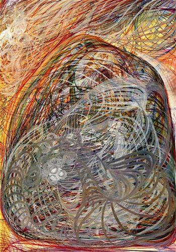 The Spiritual Crown of Richard Seymour Chermside | Georgiana Houghton | oil painting