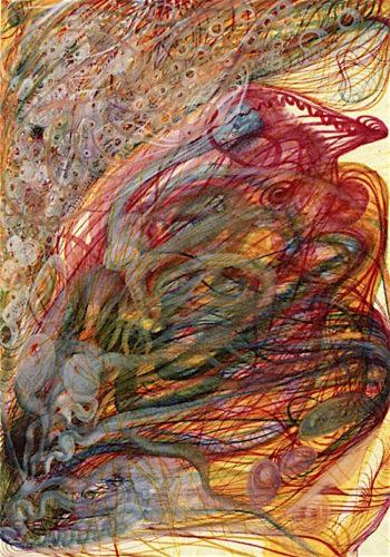 The Flower of William Stringer | Georgiana Houghton | oil painting