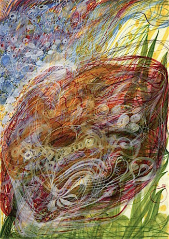 The Flower of Catherine Stringer | Georgiana Houghton | oil painting