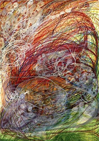 Spiritual Crown of Mrs Oliphant | Georgiana Houghton | oil painting