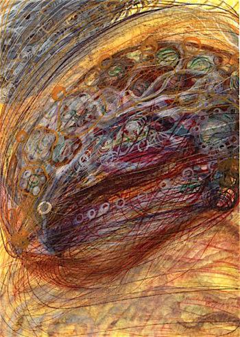 Monogram of Anne Stringer | Georgiana Houghton | oil painting