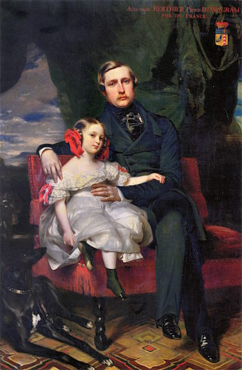 Prince Alexandre de Wagram and His Daughter Malcy | Franz Xavier Winterhalter | oil painting