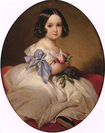 Princess Marie - Charlotte - Amélie of Belgium | Franz Xavier Winterhalter | oil painting