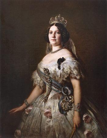 Queen Isabella II of Spain   Franz Xavier Winterhalter   oil painting