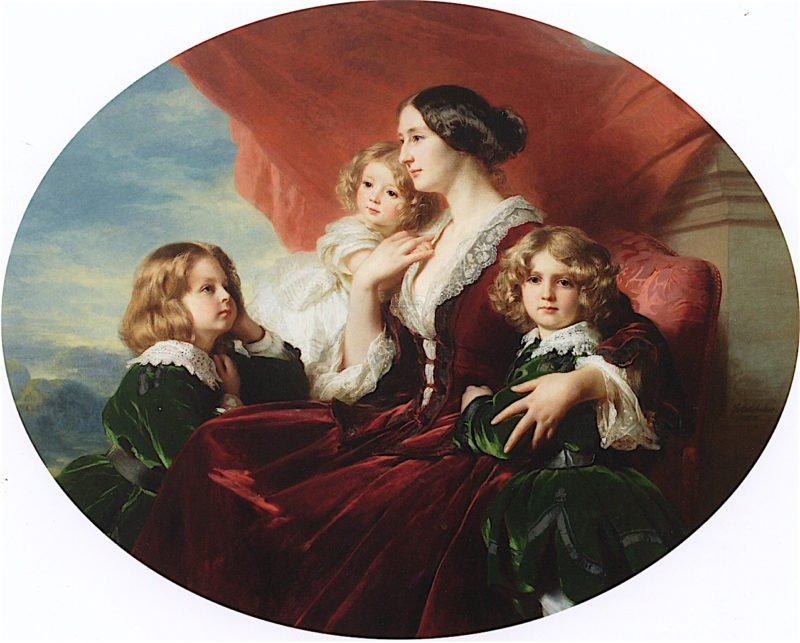 Countess Krasi?ska and Her Children   Franz Xavier Winterhalter   oil painting