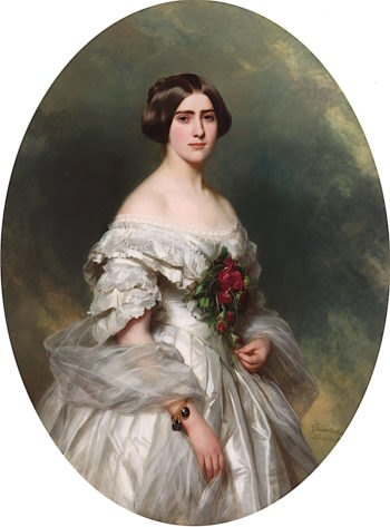 Young Lady in a Ball Gown | Franz Xavier Winterhalter | oil painting