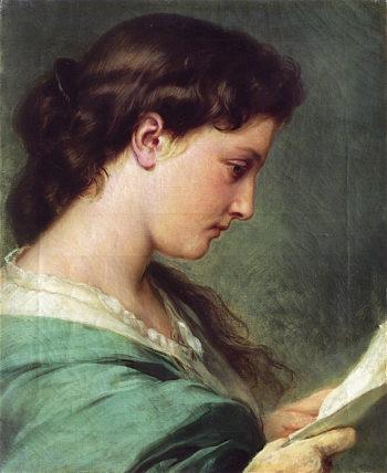 Woman Reading a Letter   Franz Xavier Winterhalter   oil painting
