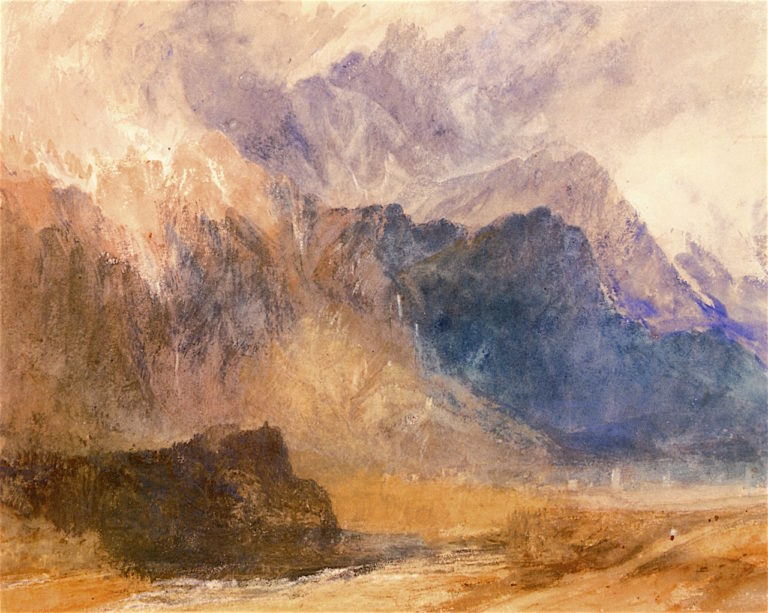 A Scene in the Val dAosta | Joseph Mallord William Turner | oil painting