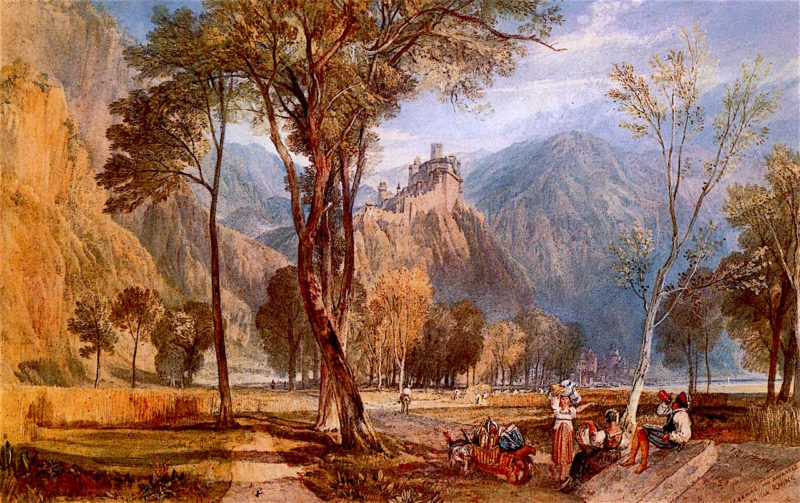 MARXBOURG and BRUGBERG on the RHINE | Joseph Mallord William Turner | oil painting