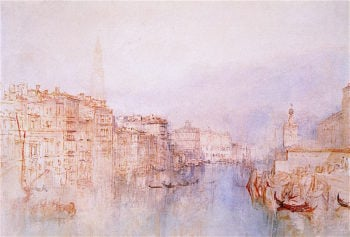 Venice -  The Grand Canal Looking towards the Dogana | Joseph Mallord William Turner | oil painting