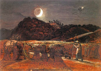 Cornfield by Moonlight with the Evening Star | Samuel Palmer | oil painting