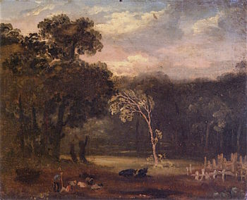 Sketch from Nature in Syon Park | Samuel Palmer | oil painting