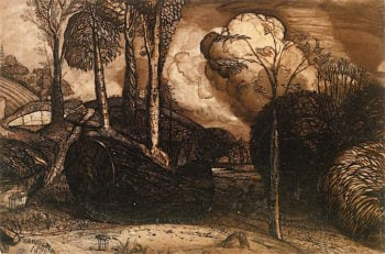 The Valley with a Bright Cloud | Samuel Palmer | oil painting