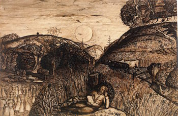 The Valley Thick with Corn | Samuel Palmer | oil painting