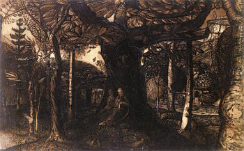 The Skirts of a Wood | Samuel Palmer | oil painting