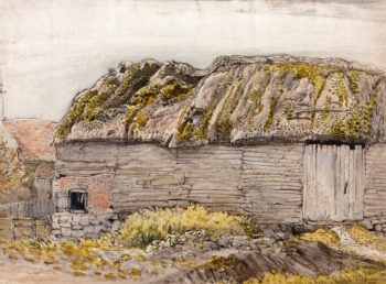 A Barn with a Mossy Roof | Samuel Palmer | oil painting