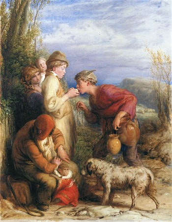 Giving a Bite | William Mulready | oil painting