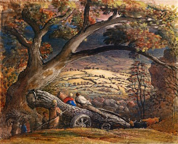 The Timber Wain | Samuel Palmer | oil painting