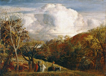 The Bright Cloud | Samuel Palmer | oil painting