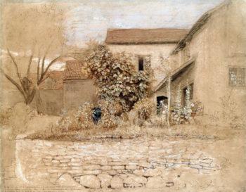 Study of a Garden at Tintern | Samuel Palmer | oil painting